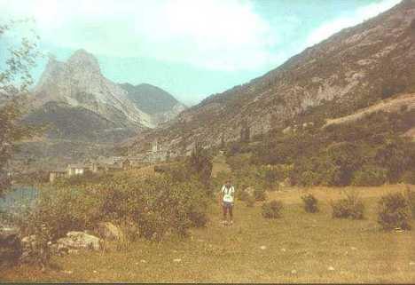 Migalánchel Mart�n, Lanuza y el pico Foratata. Migalánchel Mart�n Lanuza y Peña Foratata