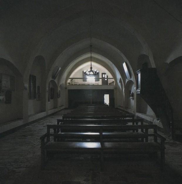 Interior de la iglesia de Nuestra Señora de la Sierra. Foto José Antonio Pascual.- Aintros d´a ilesia de Nª Sra. de la Siarra