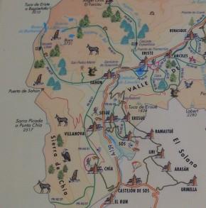 Mapa de la zona. Mapa de la redoltada.