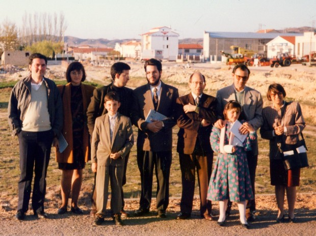 05 De cucha ta dreita M. Martín, M.C. Soguero, Ch. De Jaime, Ch.Carlos Laínez, Santiago Román y Ch. M. Cebrián Chorche-1991)
