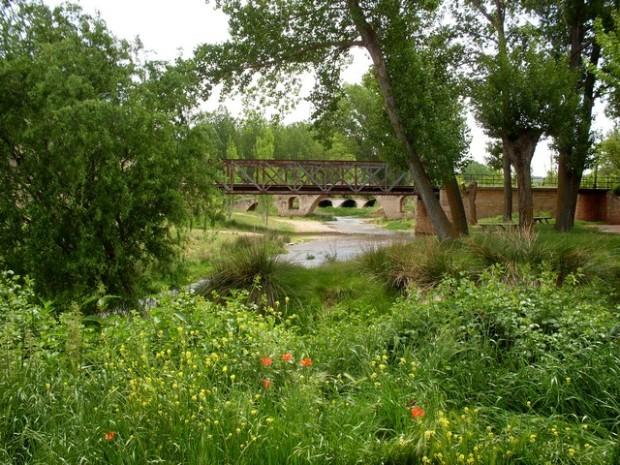 Los puentes del Pancrudo desde la desembocadura. dende a compleganza