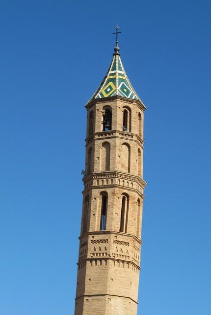 Torre mudéjar de la iglesia de Torrellas. Torre mudéxar d´a ilesia de Torrellas