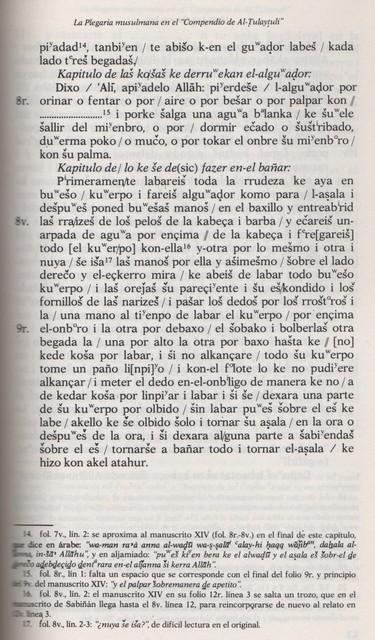 Ejemplo de una página del Manuscrito del libro de Mª José Cervera.  Contrimuestra d´una pachina d´o Manescrito, de ro libro de Mª José Cervera