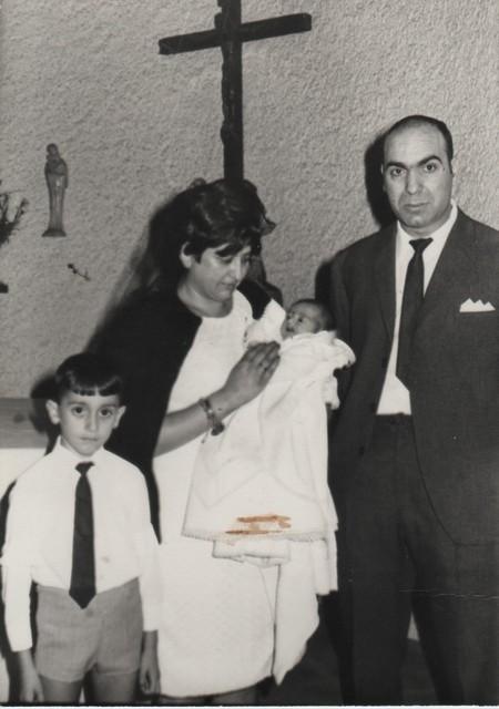 Nicerato padrino de su sobrino José Manuel. Nicerato padrino d'o suyo sobrino José Manuel