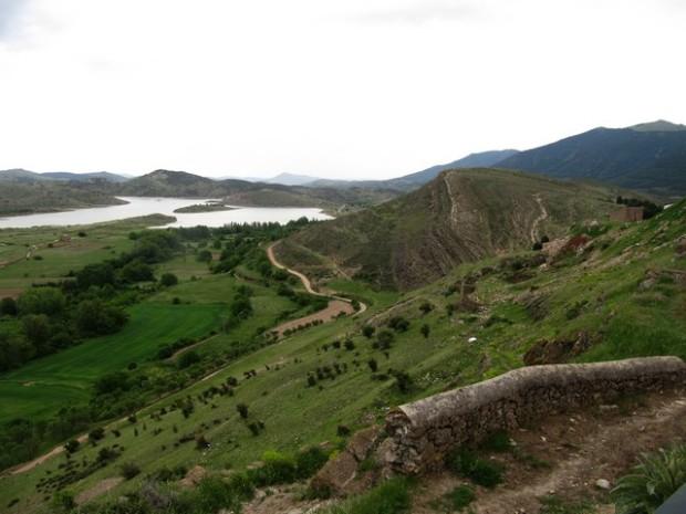 Embalse de Maidevera desde Aranda de Moncayo.- Entibo de Mai de Bera dende Aranda d´o Moncayo
