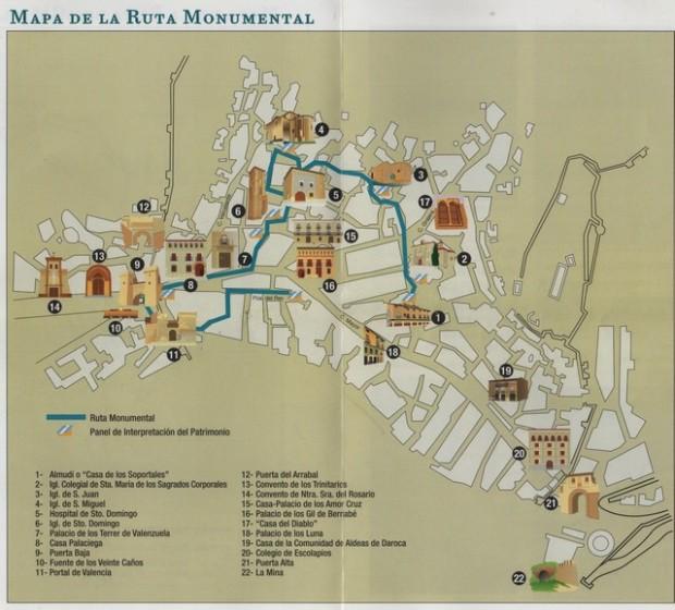 Mapa ruta monumental.- Mapa cursa molimental